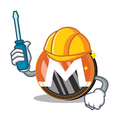 Automotive monero coin character cartoon vector
