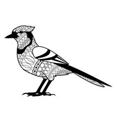 Black and white bird design vector