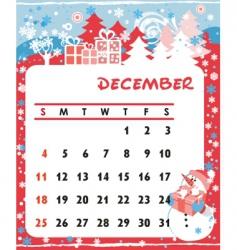 calendar december vector image vector image