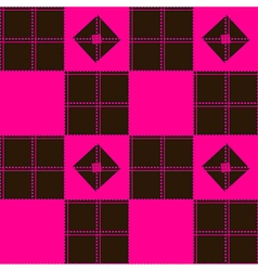 Chessboard pink blown background vector