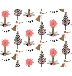 Christmas Candle pattern vector image vector image