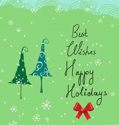Christmas parents card vector