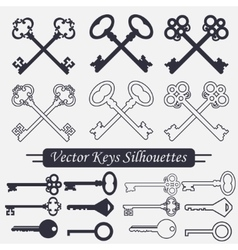 Crossed keys set - vector