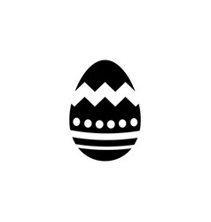 easter egg solid icon religion holiday elements vector image vector image