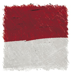 Flag of monaco handmade square shape vector