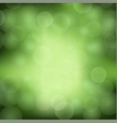 green blurred light background vector image vector image
