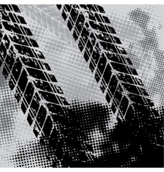 Grunge tie track background vector image