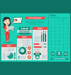 Hi-tech infographic template vector