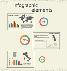 Infographic 1 vector image vector image
