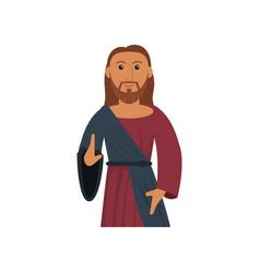 Jesus christ sacred religious image vector