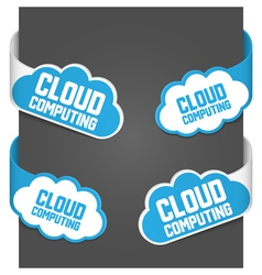 left and right side signs - cloud computing vector image vector image