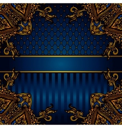 luxury banner border vector image vector image