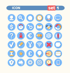 Modern icons set web buttons collection vector