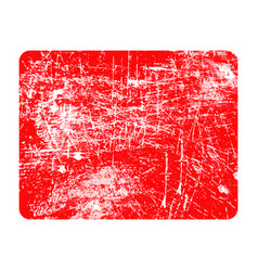 Red rectangular grunge stamp with copyspace vector