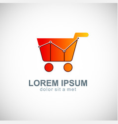 sale business shopping cart logo vector image