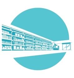 Shelves in store supermarket vector