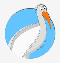 stork icon animal vector image