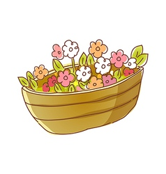 The flowers in a flower pot vector image vector image