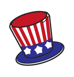 uncle sam usa america hat symbol travel vector image vector image