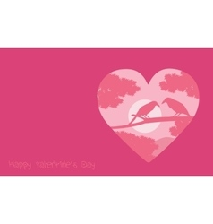 Valentine day with romance bird backgrounds vector