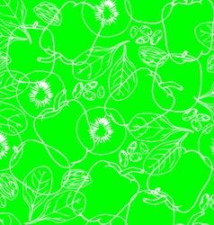 Vegetables contour seamless pattern vector