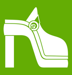 women shoe icon green vector image