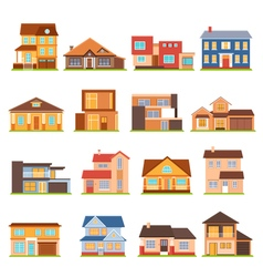 Cottage House Building Set vector image