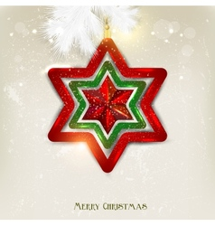 Elegant christmas star background vector image
