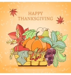 Thanksgiving holiday card vector