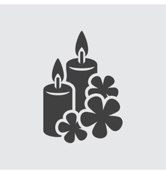 Aroma candle icon vector