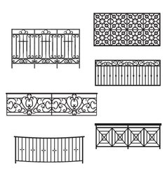 Balcony rails vector