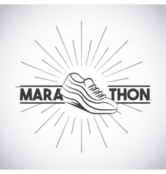 Marathon running shoes vector