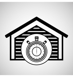 Storage building service clock timer vector