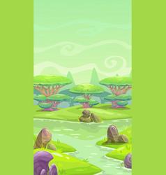 Fantasy cartoon landscape vector