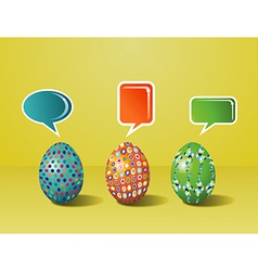 Social media easter interaction vector