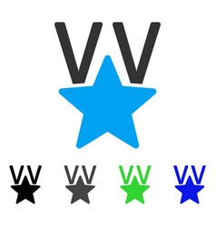 Star victory award flat icon vector