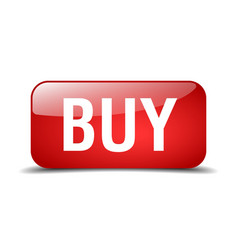 Buy red square 3d realistic isolated web button vector