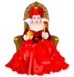 Angry queen on throne vector