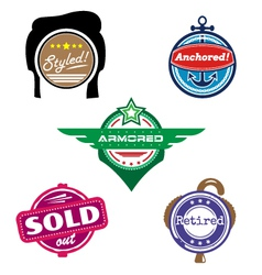 Funny badges vector image