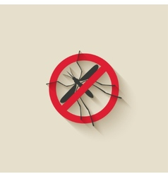 Mosquito warning sign vector