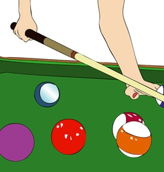 A game of billiards vector