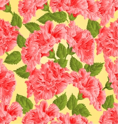 Seamless texture pink hibiscus tropical flowers vector