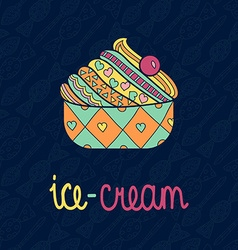 Artistic ice cream design vector