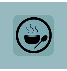 Pale blue hot soup sign vector