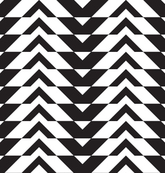 Black and white alternating thick chevron with vector