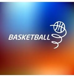 Logo basketballTemplate logo vector image