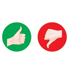 thumb up thumb down round icons vector image