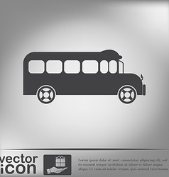 School bus symbol study icon transport vector