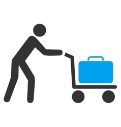 Passenger trolley flat icon vector