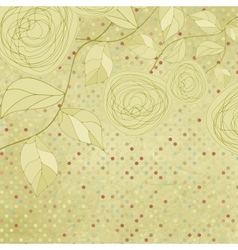 Vintage rose floral card not auto-traced EPS 8 vector image